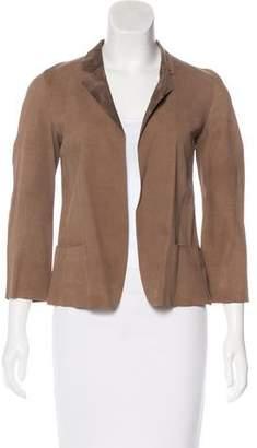 Marni Suede Notch-Lapel Jacket