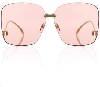Gucci Square-frame rimless sunglasses