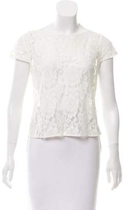 Alice + Olivia Lace Cap Sleeve Top