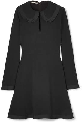 Stella McCartney Peter Pan Collar Cady Dress - Black
