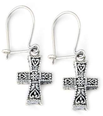 Silver Cross Samuel B Jewelry Sterling Drop Earrings