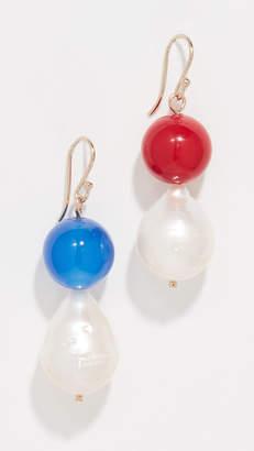 Trademark Vermeer Baroque Freshwater Cultured Pearl Earrings