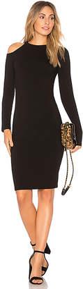 Monrow Cut Out Shoulder Dress