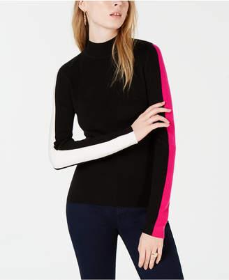 Bar III Varsity-Stripe Pullover Sweater