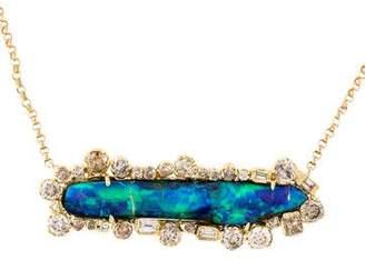 Kimberly McDonald 18K Boulder Opal & Diamond Pendant Necklace