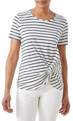 Olsen Casual Coast Knotted Stripe Tee