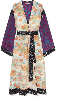 Elizabeth and James Shawna Printed Silk Kimono - Beige