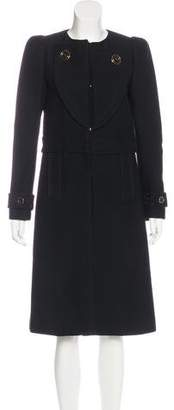 Gucci Broadtail-Accented Wool Coat