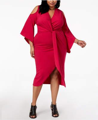 Rebdolls Plus Size Faux Wrap Dress