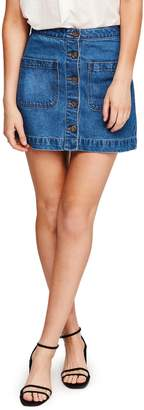 Free People Don't Get Me Wrong Denim Miniskirt