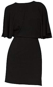Saint Laurent Women's Loose Sleeve V-Back Sheath Dress