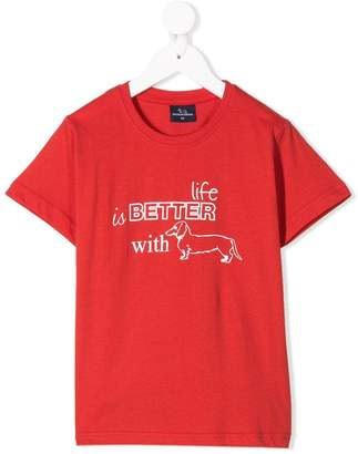Harmont & Blaine Junior life is better with dogs printed T-shirt