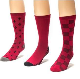Muk Luks Men's 3 Pair Crew Sock Pack