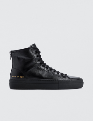 Common Projects Tournament High Super In Leather $380 thestylecure.com