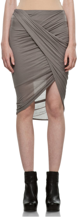Helmut Lang Front Wrap Skirt in Warm Bronze