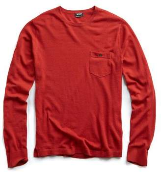 Todd Snyder Cashmere T-Shirt Sweater in Burnt Orange