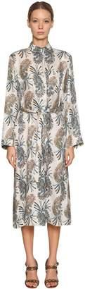 Etro Printed Silk Viscose Shirt Dress