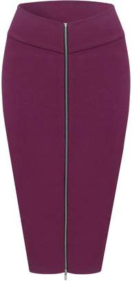 Toms Tom's Ware Womens Stylish Exposed Front Zip Stretchy Pencil Skirt TWCWD129--CA