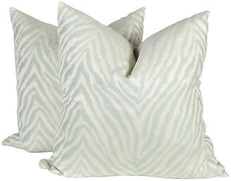 One Kings Lane Vintage Zebra Pillows - Set of 2 - Ivy and Vine