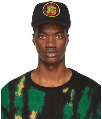 DSQUARED2 Black Canadian Brothers Baseball Cap