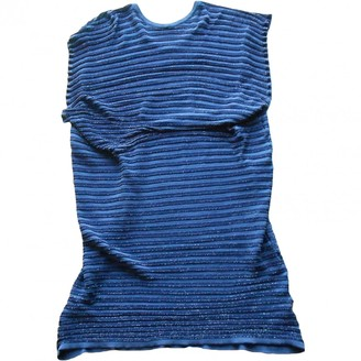 Pleats Please Blue Polyester Dresses