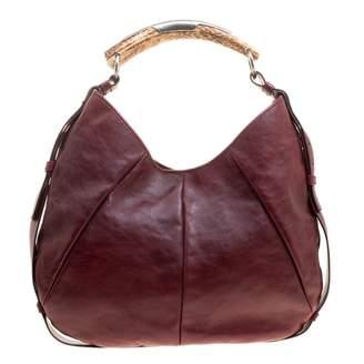 acbdfb40 Saint Laurent Mombasa Burgundy Suede Handbag