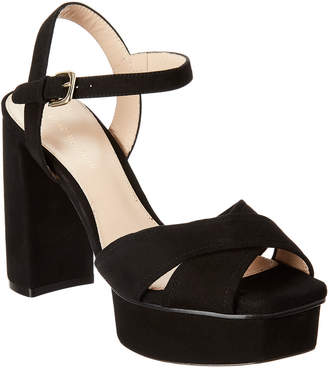 Stuart Weitzman Exposed Suede Sandal