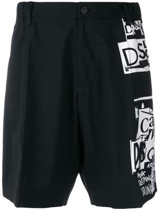 DSQUARED2 collage print shorts