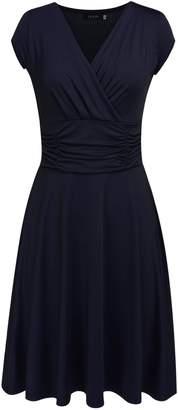 Zeagoo Women's dress slim sleeve Casual