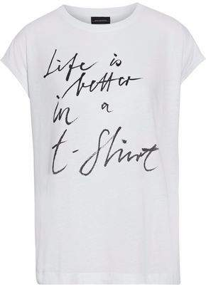 By Malene Birger Printed Cotton And Modal-Blend T-Shirt