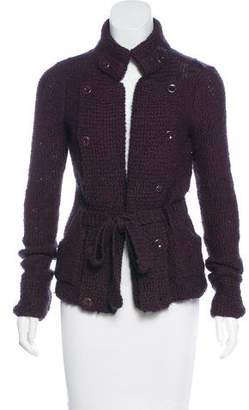 Mayle Collared Knit Cardigan