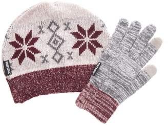 Muk Luks Women's Beanie and Glove Set