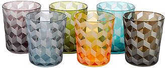 Pols Potten Block Glass Tumbler, Set of 6, 320ml, Assorted