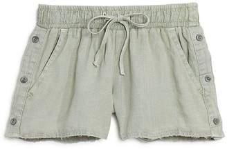 Bella Dahl Girls' Side-Button Linen Shorts - Big Kid