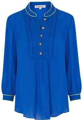 Libelula Delphine Top Bright Blue with Yellow
