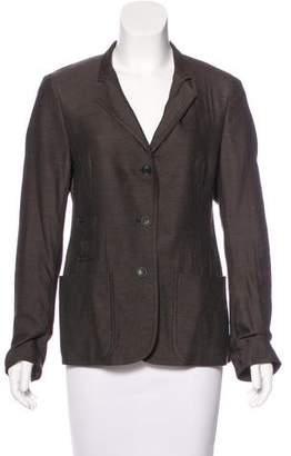 Akris Wool & Silk-Blend Fitted Blazer