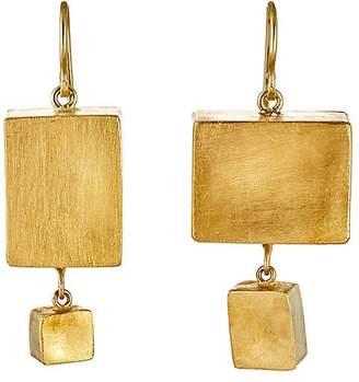 Judy Geib Women's Giant Cubic Double-Drop Earrings