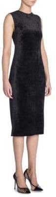 Giorgio Armani Sleeveless Velvet Midi Sheath Dress