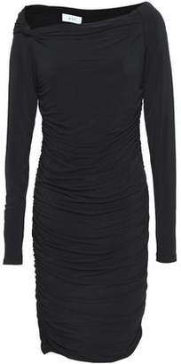 A.L.C. Etta Off-The-Shoulder Ruched Stretch-Jersey Dress