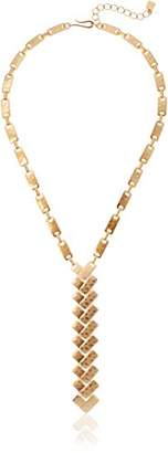 Robert Lee Morris Primal Connection Geometric Rectangle Link Y-Shaped Necklace