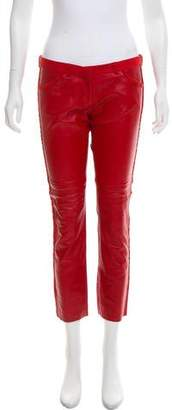 Isabel Marant Low-Rise Leather Pants