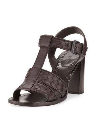 Bottega Veneta Intrecciato T-Strap 80mm Sandal