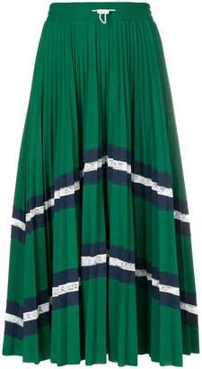 3d1c8fc444c Valentino patterned pleated midi skirt