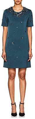 Womens Floral Embroidered Gazar Shift Dress Zac Posen h1miQN5NLs