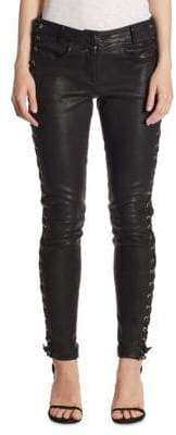 A.L.C. Dent Leather Lace-Up Skinny Pants