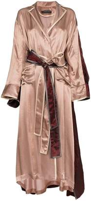 Y/Project Y / Project Two tone double layer robe