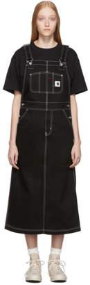 Carhartt Work In Progress Black W Bib Long Overall Dress