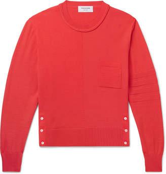 Thom Browne Slim-Fit Cropped Merino Wool Sweater