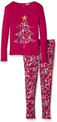 Fat Face Girl's Festive Tree Snug Pyjama Sets,(Manufacturer Size: 4-5)