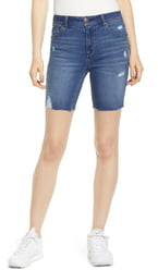 1822 Denim Distressed Bermuda Shorts